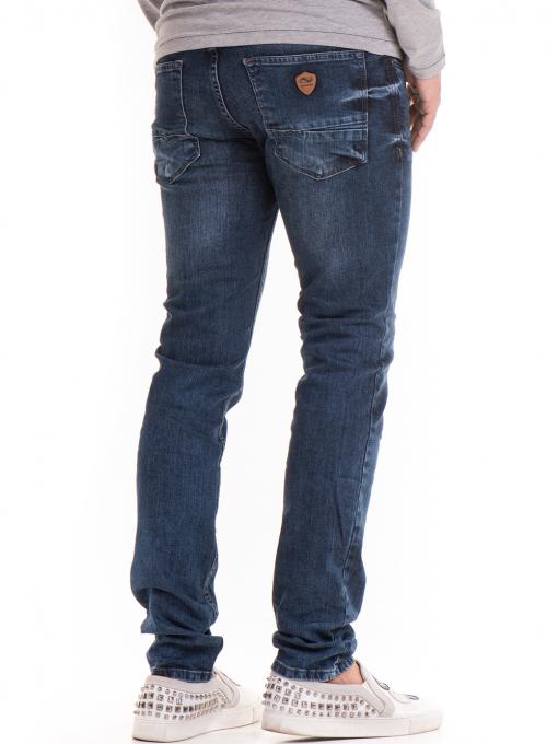Мъжки дънки ORONERO 7458 с колан - деним B