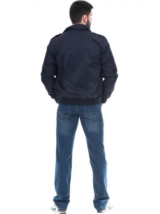 Класически мъжки дънки VIGOSS 70063 - тъмен деним E