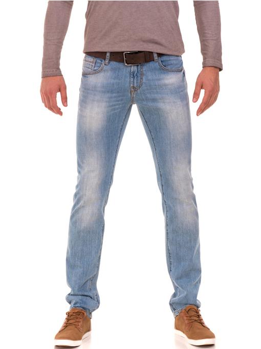Мъжки класически дънки VIGOSS 70592 - светъл деним