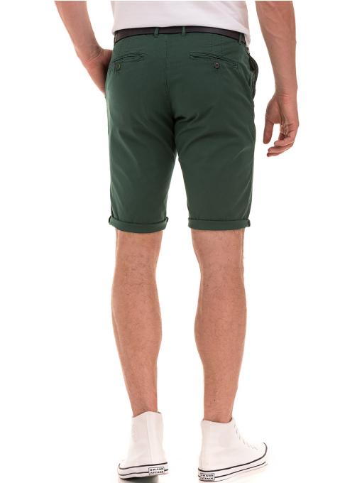 Мъжки спортно-елегантни бермуди ELECTRA 11101- тъмно зелени B