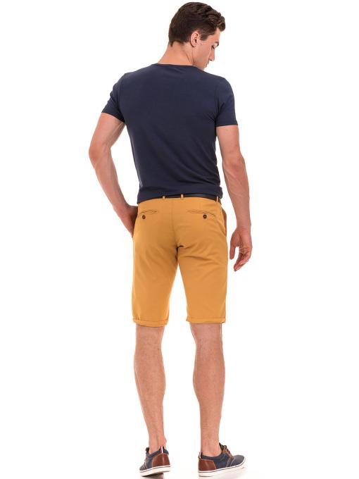 Мъжки спортни-елегантни бермуди ELECTRA 11101 - цвят горчица E