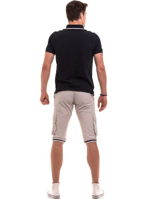 Мъжки спортни бермуди ELECTRA 3588- светло бежови E