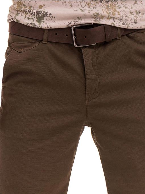 Мъжки спортно-елегантни бермуди XINT 204- цвят каки D