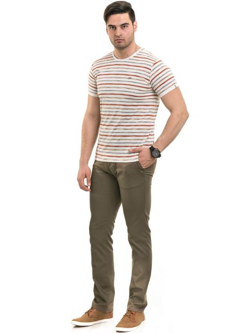 Мъжки спортно-елегантен панталон BRN 7207 - цвят каки C