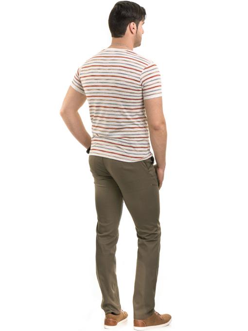 Мъжки спортно-елегантен панталон BRN 7207 - цвят каки E