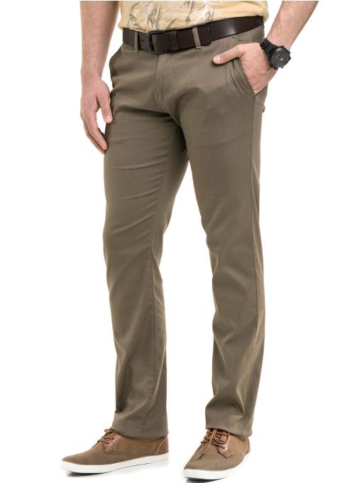 Мъжки спортно-елегантен панталон BRN 7207 - цвят каки A1