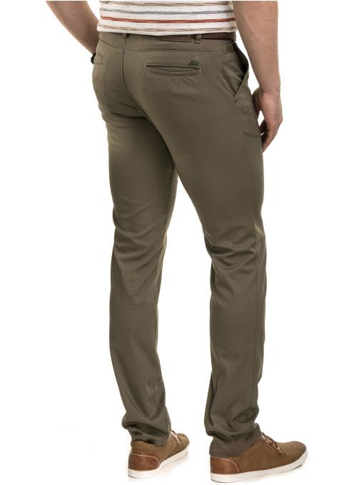 Мъжки спортно-елегантен панталон BRN 7207 - цвят каки B