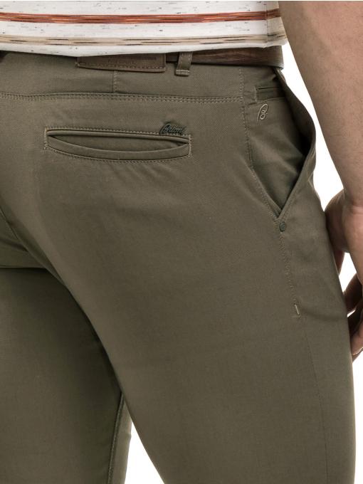 Мъжки спортно-елегантен панталон BRN 7207 - цвят каки D