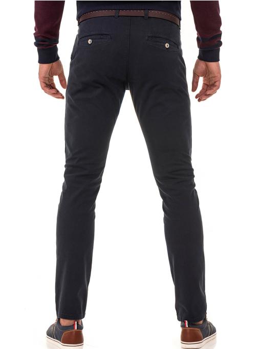 Мъжки спортно-елегантен панталон ELECTRA 7487 - тъмно син B