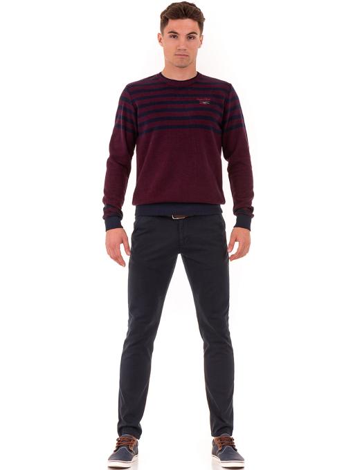 Мъжки спортно-елегантен панталон ELECTRA 7487 - тъмно син C