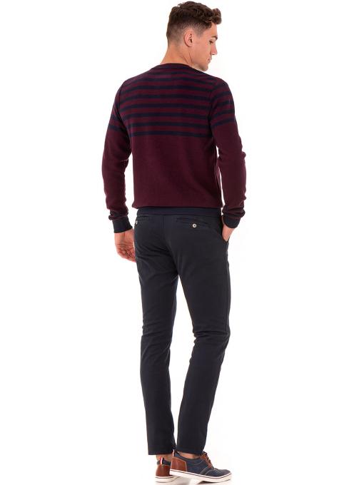 Мъжки спортно-елегантен панталон ELECTRA 7487 - тъмно син E