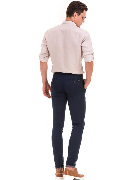 Мъжки спортен панталон KOTON с колан 41351 - тъмно син E