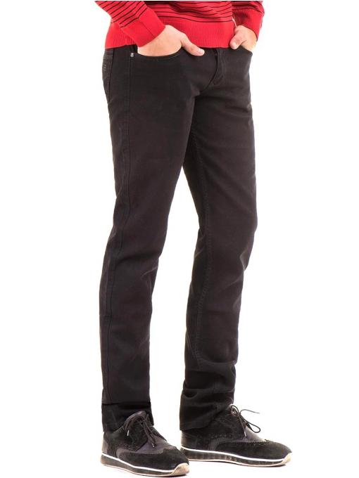 Класически мъжки панталон LACARINO с колан 3048 - черен