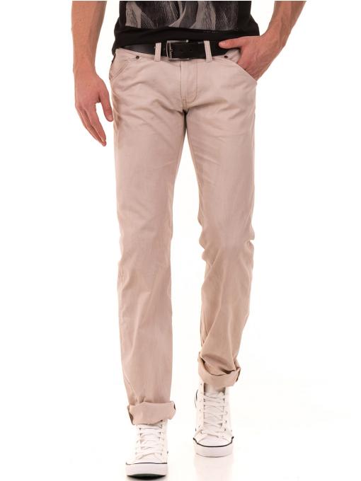 Мъжки прав панталон LOTUS 925 - светло бежов