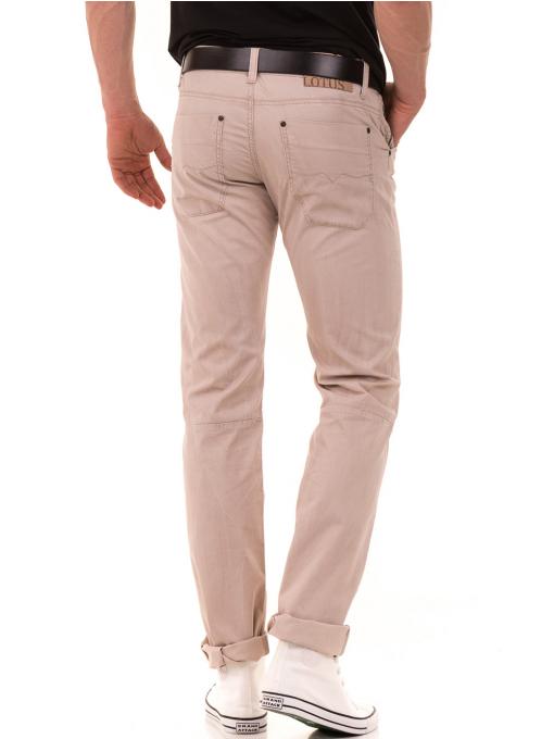 Мъжки прав панталон LOTUS 925 - светло бежов B