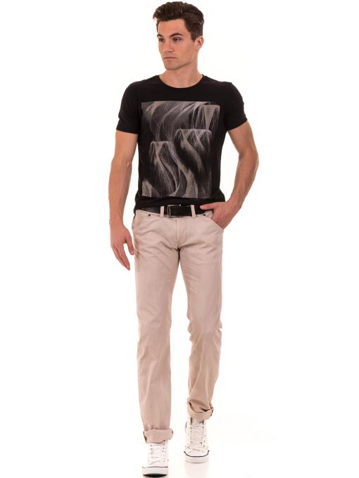 Мъжки прав панталон LOTUS 925 - светло бежов C
