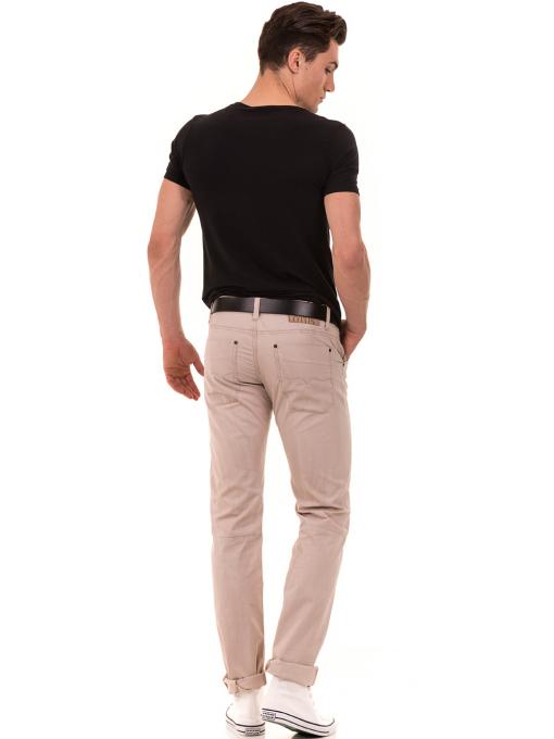 Мъжки прав панталон LOTUS 925 - светло бежов E