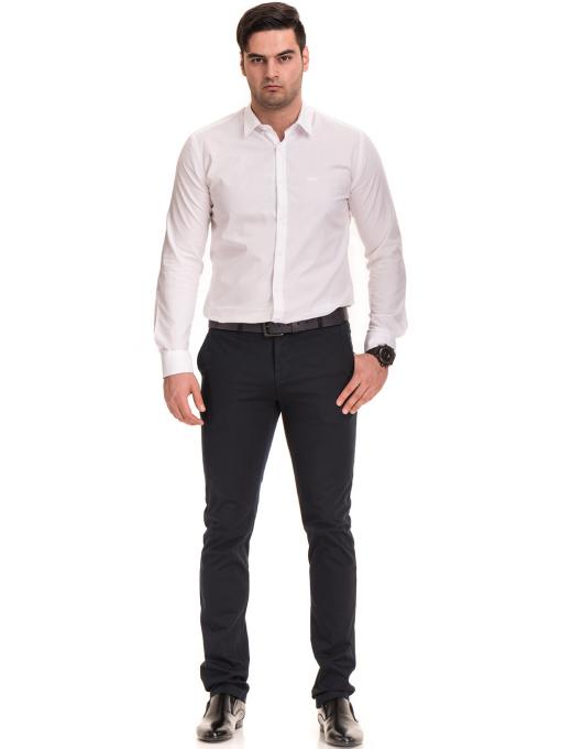 Елегантен мъжки панталон MCL 30063 - тъмно син C