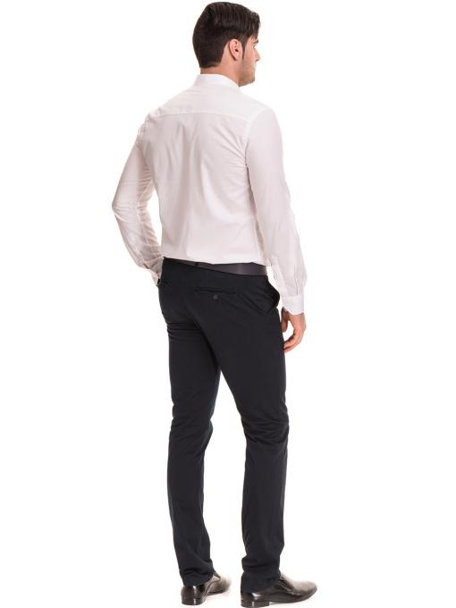 Елегантен мъжки панталон MCL 30063 - тъмно син C1