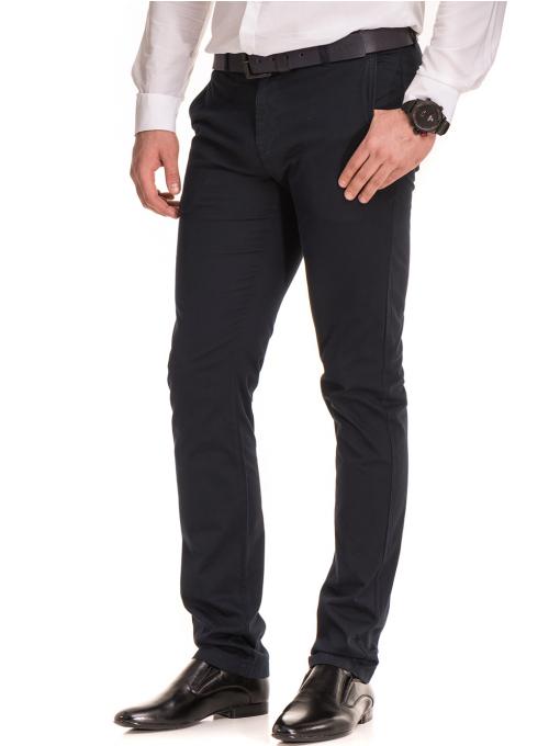 Елегантен мъжки панталон MCL 30063 - тъмно син