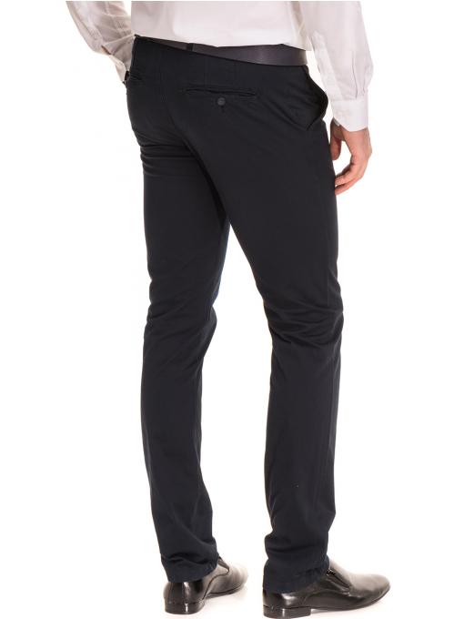 Елегантен мъжки панталон MCL 30063 - тъмно син B