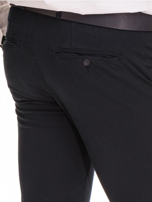 Елегантен мъжки панталон MCL 30063 - тъмно син D