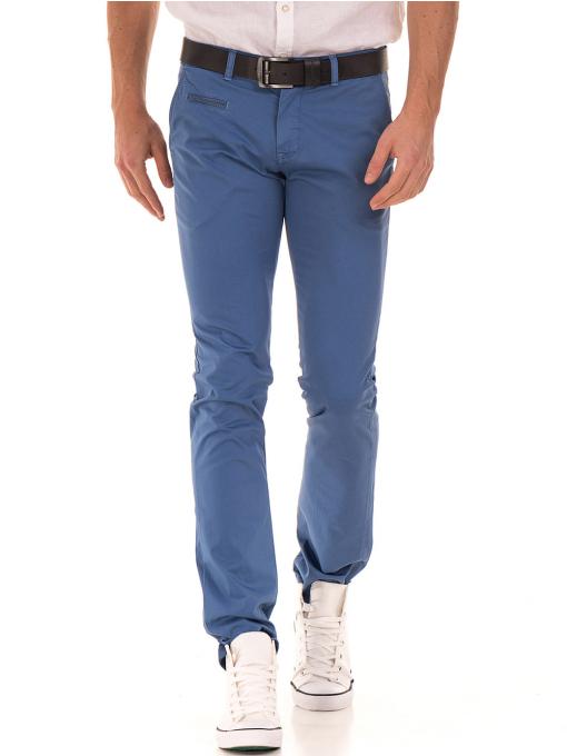 Мъжки спортно елегантен панталон PADOFF 1034 - син