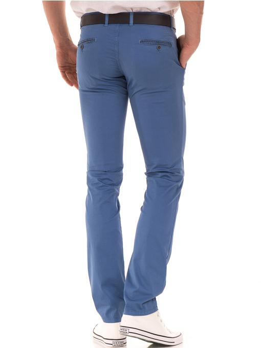 Мъжки спортно елегантен панталон PADOFF 1034 - син  B