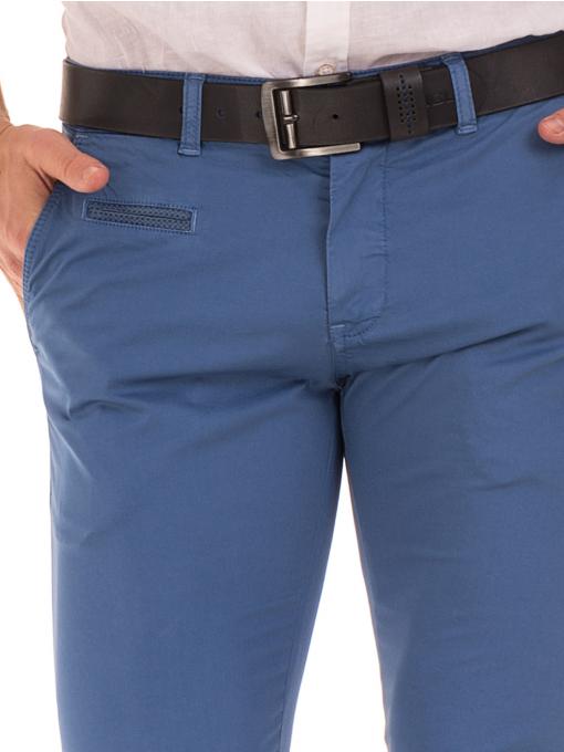 Мъжки спортно елегантен панталон PADOFF 1034 - син  D