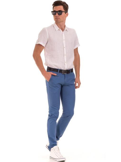 Мъжки спортно елегантен панталон PADOFF 1034 - син  C