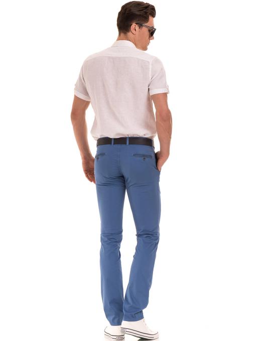 Мъжки спортно елегантен панталон PADOFF 1034 - син  E