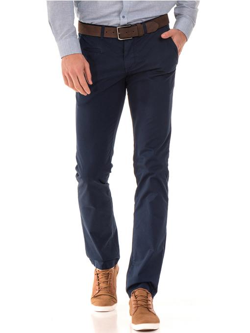 Мъжки спортно елегантен панталон PADOFF 1034 - тъмно син