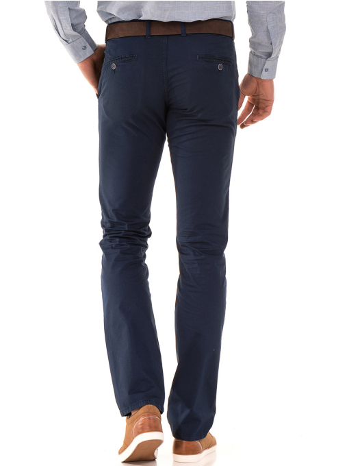 Мъжки спортно елегантен панталон PADOFF 1034 - тъмно син B