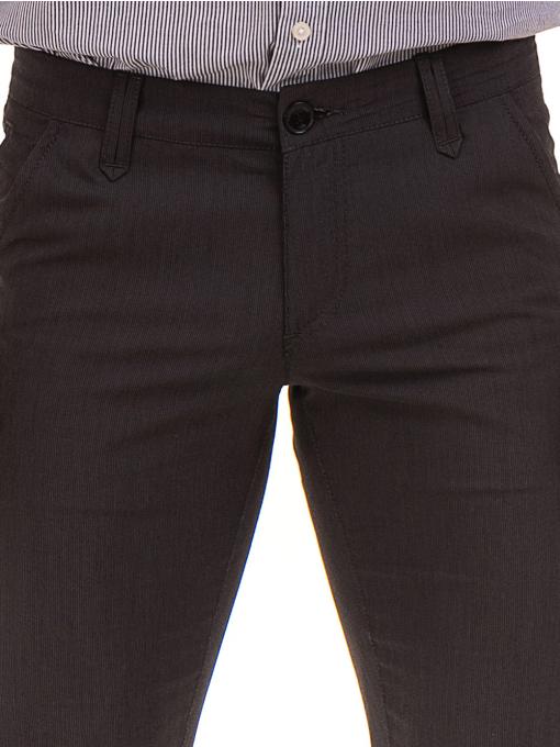 Мъжки спортно елегантен панталон VIGOSS 37066 - тъмно сив D