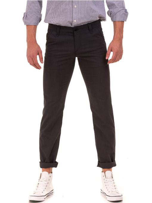 Мъжки спортно елегантен панталон VIGOSS 37066 - тъмно сив