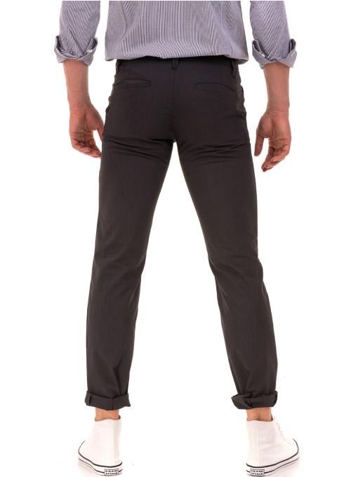 Мъжки спортно елегантен панталон VIGOSS 37066 - тъмно сив B