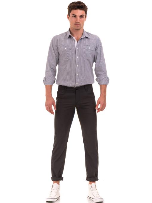 Мъжки спортно елегантен панталон VIGOSS 37066 - тъмно сив C
