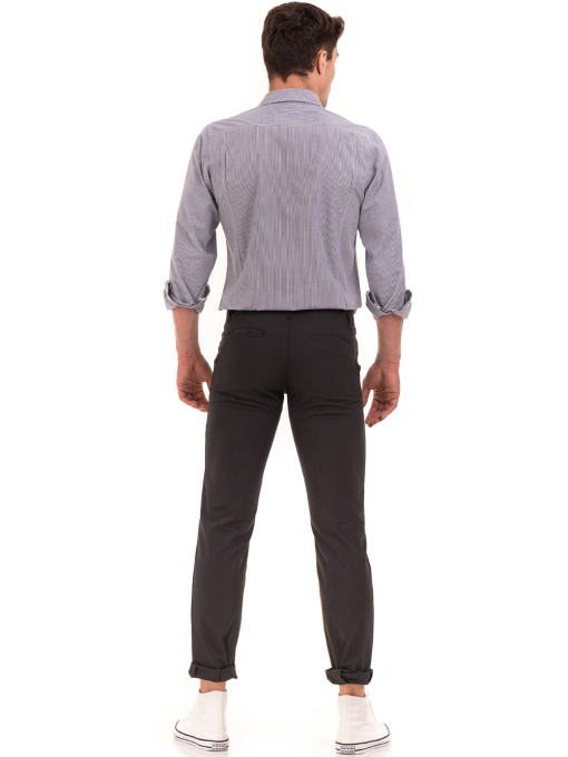 Мъжки спортно елегантен панталон VIGOSS 37066 - тъмно сив E