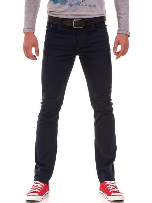 Мъжки спортен панталон XINT 415 - тъмно син