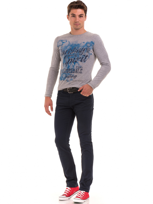 Мъжки спортен панталон XINT 415 - тъмно син C