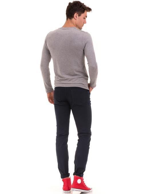 Мъжки спортен панталон XINT 415 - тъмно син E