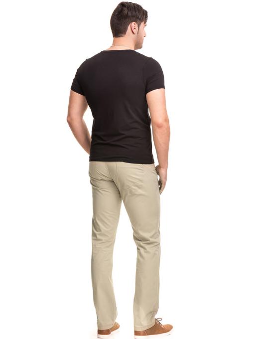 Мъжки спортно елегантен панталон XINT 417 - светло бежов E
