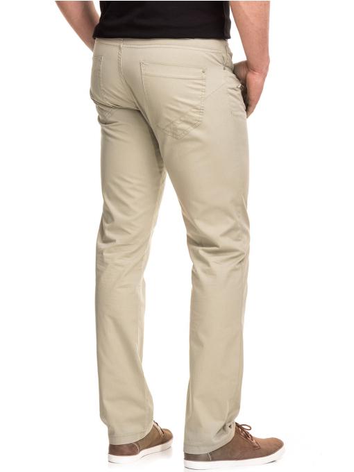 Мъжки спортно елегантен панталон XINT 417 - светло бежов B