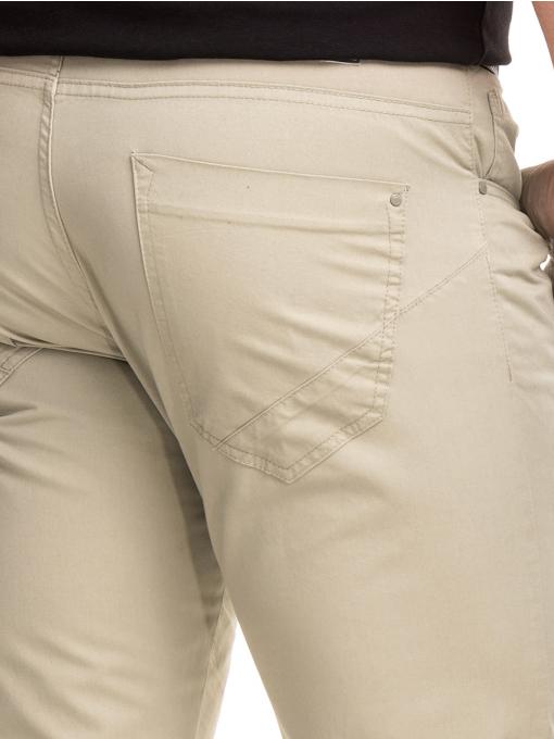 Мъжки спортно елегантен панталон XINT 417 - светло бежов D
