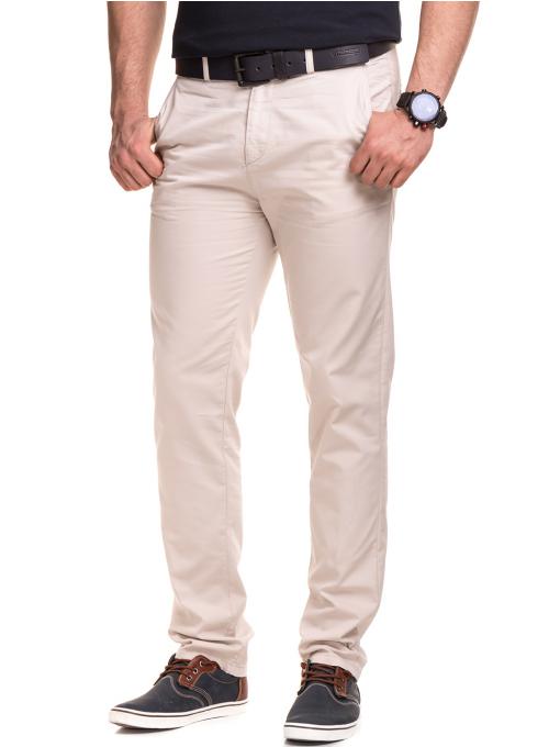 Мъжки спортно елегантен панталон XINT 470 - светло бежов