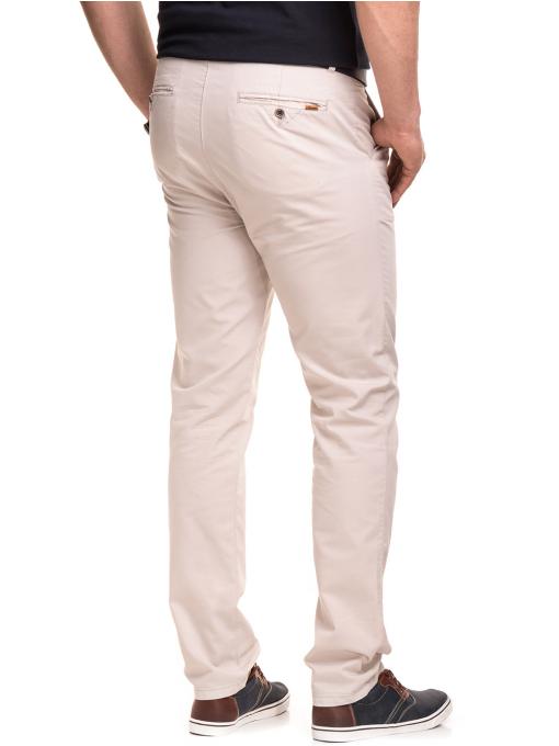 Мъжки спортно елегантен панталон XINT 470 - светло бежов B