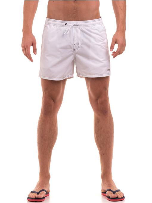 Къси плувни шорти XINT 103 - бели