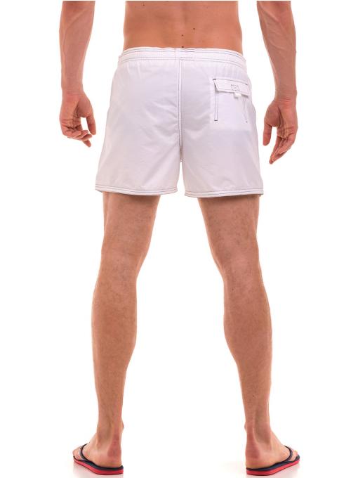 Къси плувни шорти XINT 103 - бели B