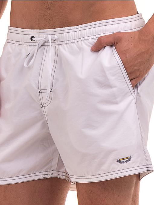 Къси плувни шорти XINT103 - бели D