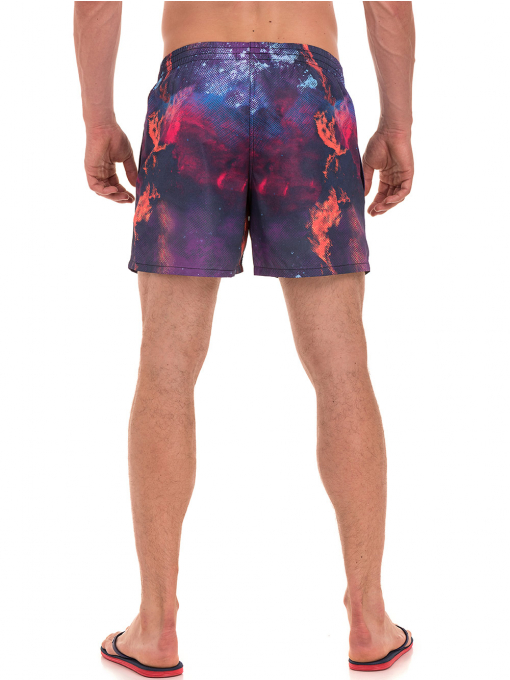 Къси плувни шорти XINT 163 - лилави B
